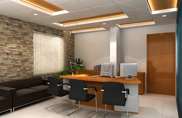 3d office interior design design decoration